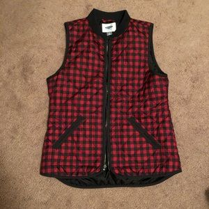 Old Navy Buffalo Plaid Quilted Zip-Front Vest